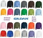 New Gildan Crew Neck Pullover Sweatshirt Sweater 24 Great Colours S M L XL 2XL