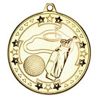 """2"""" Golf Medals in Gold,Silver or Bronze FREE Engraving & Ribbon upto 30 Letters"""