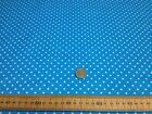 Polycotton Fabric * SPOTTED POLKA DOT * TURQUOISE with TINY WHITE SPOTS * 2mm