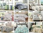 100 Cotton Bedding Set 1 Duvet Cover  2 Pillowcases Queen King 14 designs