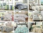 Swanson Beddings 100% cotton 3pc duvet cover set: queen or king size,14 designs