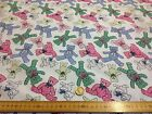 Baby Nursery TEDDIES Pink Blue Green POLY COTTON FABRIC bunting