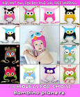 ❤ NEW COTTON  CUTE Owl Crochet Knitted Baby Girl BOY Beanie Kufi Hat FREE SHIP ✿