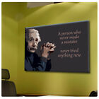 GIANT Canvas Albert Einstein photo Typography motivational print GICLEE Words