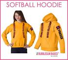 Womens SOFTBALL CUSTOM HOODIE Fastpitch Sports Sweatshirt Mom Player Name Ladies