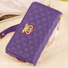 Carry Gift Case Skin Cover Womans  Wallet Pouch Bag For Cell Mobile Smart Phone