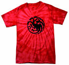 Game of Thrones House of Targaryen red tye dye New T-shirt all sizes