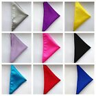 LARGE Italian Satin Wedding Handkerchief Hanky Pocket Square 12 x 12