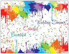 20  Rainbow WEDDING SHOWER Postcards or Flat Cards Env Invitations