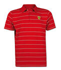 Ferrari Mens Striped Polo Shirt - Red- White - RRP £73 S M L XL XXL