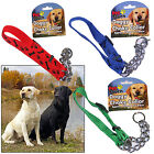 DOG CHECK CHAIN HALF CHOKE CHOKER COLLAR PUPPY ADJUSTABLE STRONG NYLON TRAINING