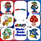 2 x Nintendo Mario Luigi Yoshi Sonic Charms Jibbitz Shoes Party Bag Cake Toppers