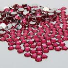 purplish red Resin Rhinestone Flatback Crystal 2/3/4/5/6MM 14 Facets