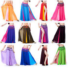 HenryG Indian Style 2-Color Layer Womens Dance Long Skirt, Chiffon Leg Opening