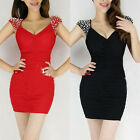 HOT Deep V-Neck Sexy Backless Slim Mini Dress Evening Party ClubWear Cocktail