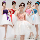 Formal womens short Floral evening party dress Bridesmaid cocktail wedding gown