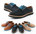 British Retro Men's Casual Oxfords Leather Lace Loafers Dress Shoes Sneakers A60