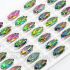 42pcs Sew On Rhinestone Glass Navette 4200 Vitrail Medium 15x7mm Crystal Stone