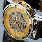 Luxury Dial Mens Skeleton Transparent Mechanical WatchPU Leather Mens WristWatch