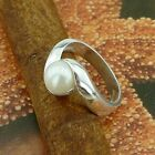 STERLING SILVER RING WITH PEARL SOLID.925 /NEW NICKEL FREE JEWELRY SIZE 5-9