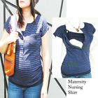 KARA Maternity Clothing Breastfeeding Shirt Nursing Tops NAVY Maternity Clothes