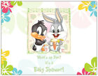 20 Baby Girl Boy BUGS BUNNY DAFFY DUCK  Flowers SHOWER INVITATIONS Post/Flat