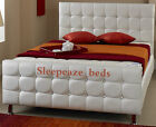 WHITE 5ft LEATHER BED DIAMONDS  ANY SIZE 3FT 4FT 4FT6  COLOUR SALE NOW ON!