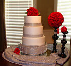 Wedding Cake Stand,   Cake Riser,  Cake Base,  Cake Plateau,  Bling Silver /Clear