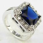 Size 6,7,8,9 Jewelry Woman's Sapphire 10KT White Gold Filled Ring