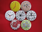 Clocks, Time peices, decoration  NEW Set of 7 Select-a-Size of Pinback Buttons