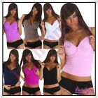 Sexy Tank Top Vest Ladies Party Clubbing Strappy Zip T-Shirt Size UK 8/10,12/14