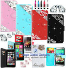 3d Luxury Stylish Magnetic Wallet Flip Diamond Sparkly Book Leather Case Cover
