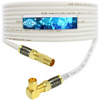 RIGHT ANGLE DIGITAL TV FREEVIEW AERIAL CABLE LEAD MALE TO ANGLED PLUGS EXTENSION