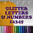 Glitter Letters & Numbers IRON-ON Tshirt FABRIC TRANSFER Personalized Sticker