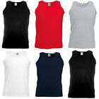 Fruit of the Loom x3 Sleeveless T shirt Vest Plain Printable Casual Bodytop**