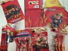 Fireman Sam party plates napkins tablecloth cups hats loot bags pencils banner