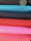 Pin Head Spot POLYCOTTON FABRIC Spotted Polka Dot Cerise Navy Red Pink Turquoise