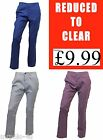 Mens Ex-NEXT Cotton/Linen Blend Causal Trousers,  Slim fit / Straight Leg