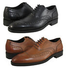 Kenneth Cole Mens Send a Letter Tan Black Business Casual Oxfords Wing Tip Shoes