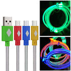 NEW Visible Light USB Data Sync Charger Cable Cord 1M For Motorola ZTE Mobile