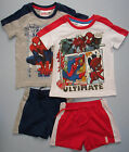 Childrens Boys Outfit Set Tshirt Top Shorts Spiderman Spider Man Pyjamas Marvel