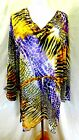 Just Love Women Plus Size 1x 2x 3x Sheer Chiffon Tunic Top B