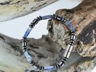 Men's Magnetic Bracelet~Blue Sodalite Stones~Classic look~Clearance! Great Deal