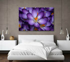 LARGE CANVAS PURPLE FLOWER WALL ART CALMING FRAMED PICTURE STUNNING NEW PRINT A0