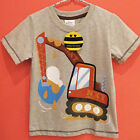 Digging Truck/ earth mover, 100% cotton, boy's T-shirt, ( 18M - 6 Years )