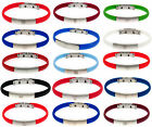 Official Football Club Crested COLOUR SILICONE / STAINLESS STEEL BRACELET