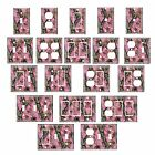 Single standard size Lightswitch Cover-- Mossy Oak Camo Break Up PINK #2