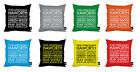 """BUS BLIND PLACES YORKSHIRE DESIGN IDEAL GIFT 18"""" CUSHION 5 COLOURS AVAILABLE"""