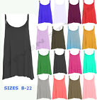 NEW LADIES CAMISOLE CAMI FLARED SKATER STRAPPY SWING MINI LOT DRESS TOP 8-22