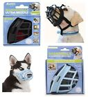 Baskerville Ultra Adjustable Padded Dog Muzzle Plastic Basket – Black Blue